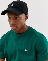 Jack Wills Enfield logo baseball cap in black
