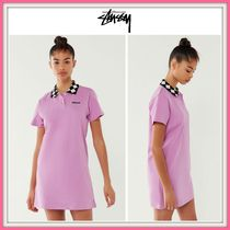 NEW!! ☆STUSSY☆ Memphis Checkered-Collar Polo Shirt Dress