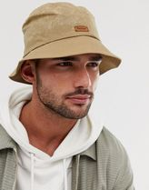 Barbour Irvine wax bucket hat in khaki