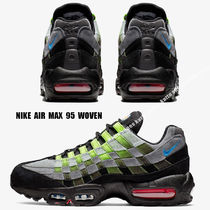 NIKE★AIR MAX 95 WOVEN★BLACK/PHOTO BLUE/VOLT/SOLAR RED