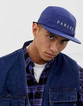 Parlez Anderson nylon 5 panel cap in navy