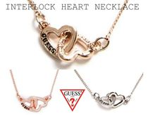 GUESS☆ INTERLOCK HEART NECKLACE ハートネックレス/ 2色