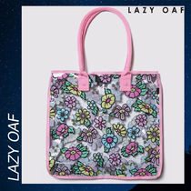 LAZY OAF(レイジーオーフ) トートバッグ LAZY OAF フラワー チョッパー トート バック カバン ピンク 花