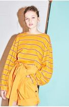NOHANT(ノアン) Tシャツ・カットソー 日本未入荷★品薄★NOHANT LONG SLEEVE CURVED TOP MUSTARD