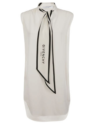 GIVENCHY シルクスカーフカラー トップス Off white