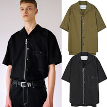 ANDERSSON BELL★MONTREAL OPEN COLLAR ZIPPED SHIRT 2色