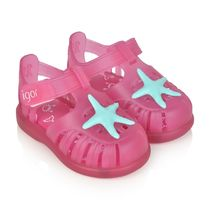 Fuchsia Tobby Velcro Starfish Jelly Sandals