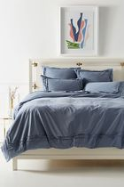 Anthropologie Joey Washed Percale Duvet Cover