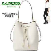 激安価格! Ralph Lauren Debby Leather Drawstring ハンドバッグ