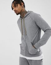 Paul Smith jersey lounge hoodie in grey marl