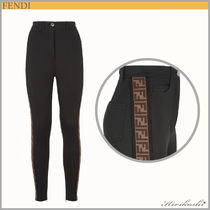 ◆FENDI  19SS最新作◆Black jersey trousers◆FF side bands◆