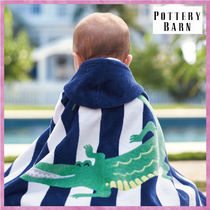 Pottery Barn*Alligator Stripe Baby Beach Wrap☆ベビータオル