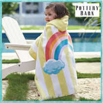Pottery Barn*Rainbow Stripe Baby Beach Wrap☆ベビータオル