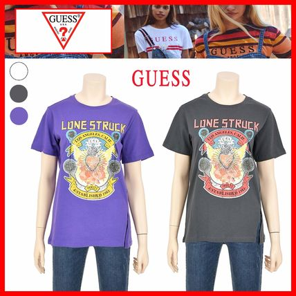 Guess Tシャツ・カットソー ☆人気☆【GUESS】☆GRAPHIC ポイント LOOSEFIT 半袖Tシャツ☆