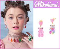★Mikshimai★GUMMY BEAR HEART DROP ピアス /MULTI PASTEL,PINK