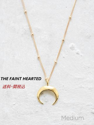 *THE FAINT HEARTED ムーンネックレスM/ゴールド*