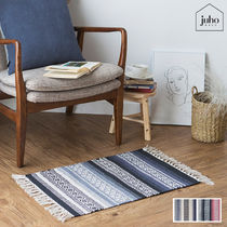 juhoDECO★NATURAL ETHNIC FOOT MAT 45×65 2カラー