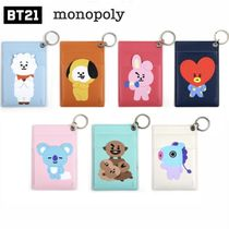 monopoly(モノポリー) パスケース ★monopoly×BT21★KEY RING CARD HOLDER 全7種【追跡送料込】
