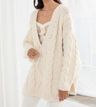 """""""& Other Stories""""Organic Cotton Cable Knit Sweater Beige"""