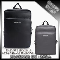 CALVIN KLEIN☆SMOOTH ESSENTIALS LOGO SQUARE BACKPACK
