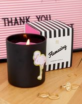 River Island candle with flamingo in black