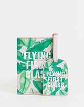 Skinnydip First Class passport and luggage tag set