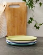 Zuperzozial bamboo biodegradable set of 6 small plates