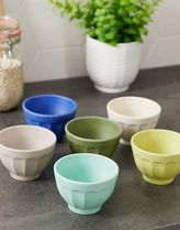 Zuperzozial bamboo biodegradable set of 6 small bowls