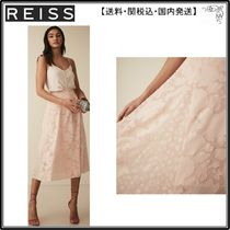 【海外限定】REISS スカート☆CHLOE BURNOUT FLORAL MIDI SKIRT