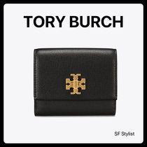 国内発送★Tory Burch Kira Foldable Medium Wallet ミニ財布黒