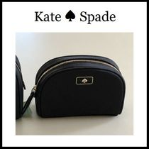 Kate Spade コスメポーチ 小サイズ化粧品入れ ロゴ 黒ナイロン
