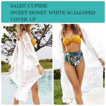 SALE!!! CUPSHE SWEET HONEY WHITE SCALLOPED COVER UP