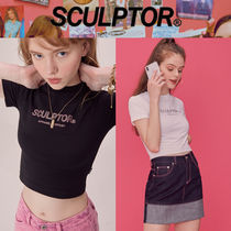 〜SCULPTOR〜 Hotfix Crop Tee 2色[WHITE,BLACK]-超人気の..