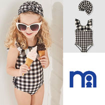 mothercare(マザーケア) 子供用水着・ビーチグッズ mothercare☆9-24M☆GINGHAM SWIMSUIT&HAT2点セット☆
