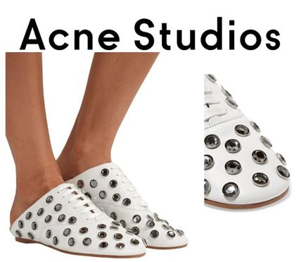 Acne シューズ・サンダルその他 Acne Studios☆Mika crystal-embellished leather ヒールスリッパ