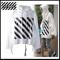 (オフホワイト) OFF-WHITE WIND BREAKER ANORAK AU9003 08 00