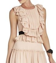 最終SALE! BCBG Pleated Ruffle Dress