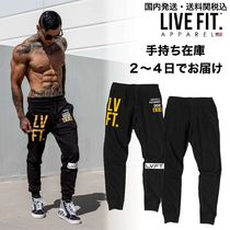 国内発・送料関税込み☆LIVE FIT☆Stacked Joggers - Black/Gold