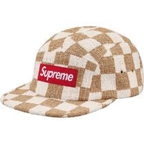 Supreme  Checkerboard Boucle Camp Cap SS 19  WEEK 12