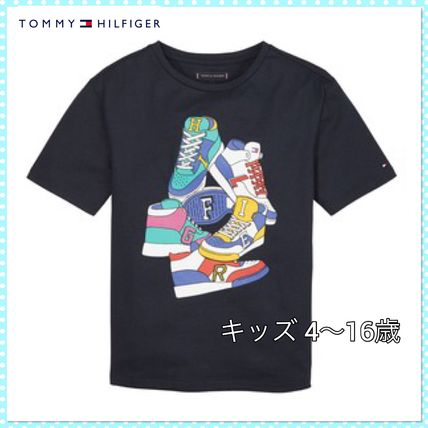 Tommy Hilfiger ボーイズ スニーカー柄 Tシャツ(4~7歳)