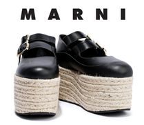 関税・送料込MARNI☆Leather platform espadrilles