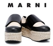 [関税・送料込]MARNI☆Two-tone leather platform espadrilles