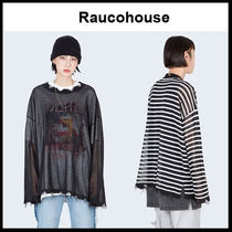 ☆RAUCOHOUSE☆ SUMMER SEE THROUGH DAMAGE LONG SLEEVE