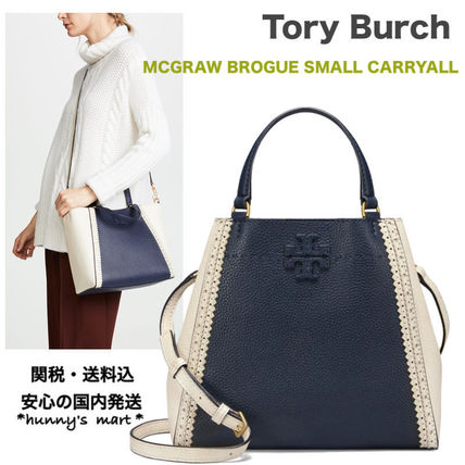 【Tory Burch】関送込 MCGRAW BROGUE SMALL CARRYALL