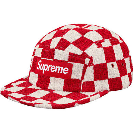 19Supreme Checkerboard Boucle Camp Capシュプリームキャップ