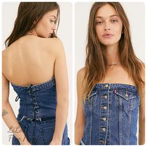 Free People★Levi's Lace-Up Denim Corset Top デニムトップ
