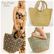 Free People★Eva Printed Jute Tote バック