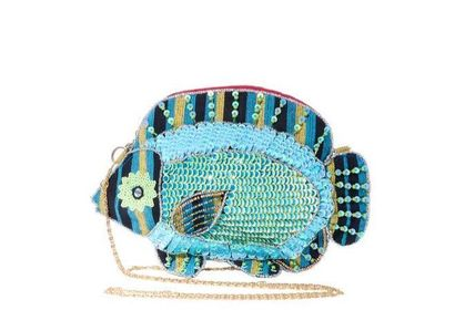 ★Betsey Johnson★ALL THE FISH IN THE SEA CROSSBODY BLUE