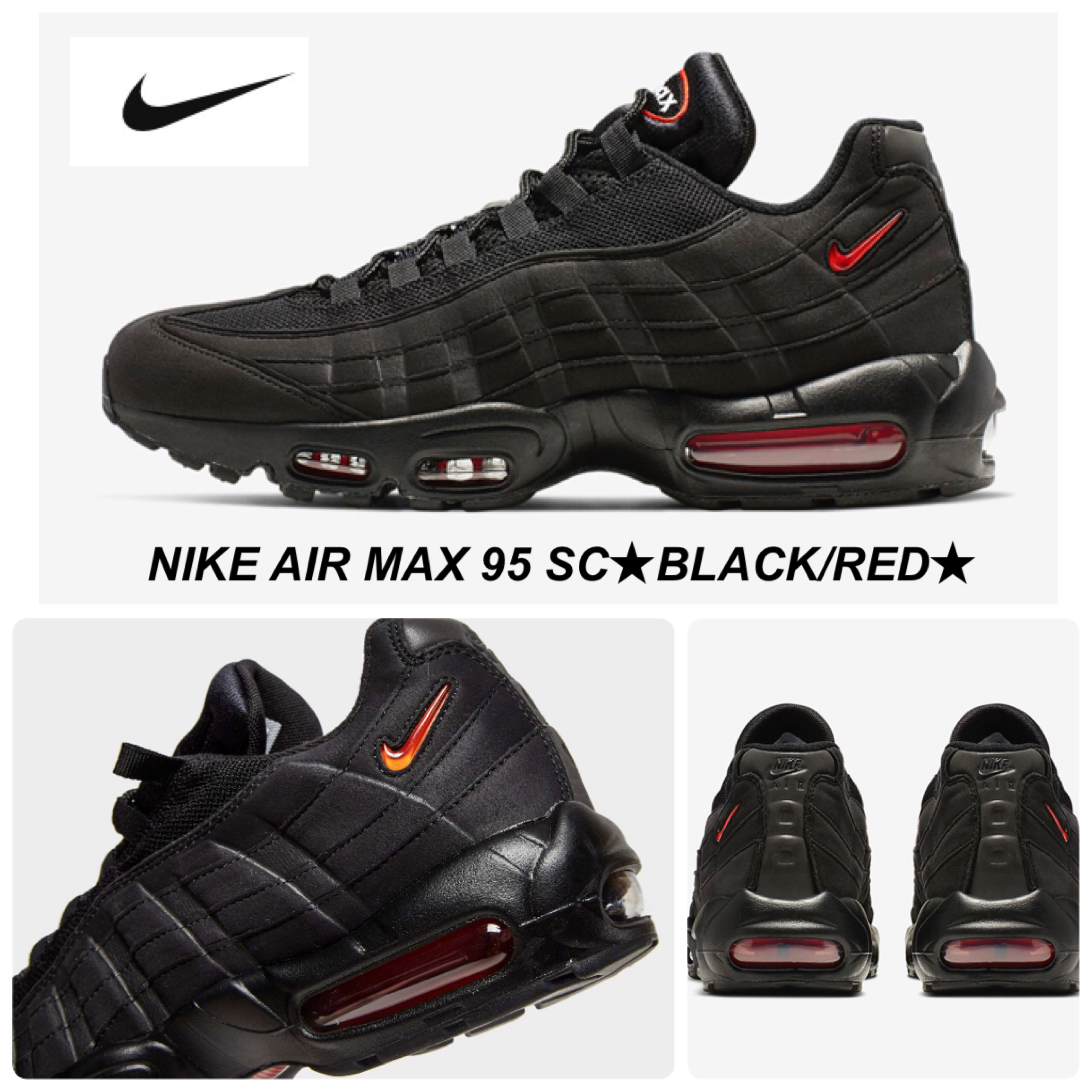finest selection 958a0 1d993 Nike AIR MAX 95 2018-19AW Unisex Street Style Plain Leather Sneakers  (CJ0423-001)