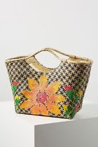 Anthropologie Lilian Woven Tote Bag